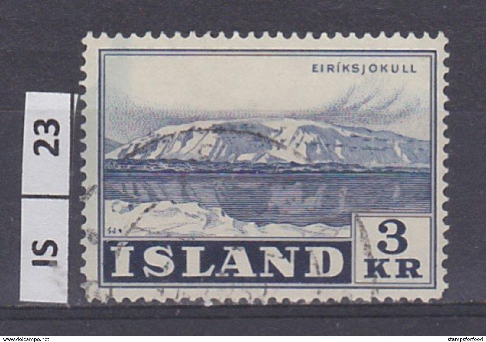 ISLANDA     1957Montagne  3 Kr Usato - Usati