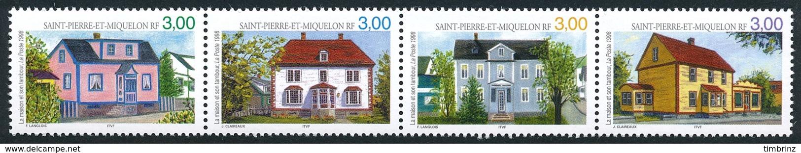 ST-PIERRE ET MIQUELON 1998 - Yv. 676 677 678 679 ** TB  Faciale= 1,83 EUR - Maison Et Tambour (4 Val.)  ..Réf.SPM11546 - St.Pierre Et Miquelon