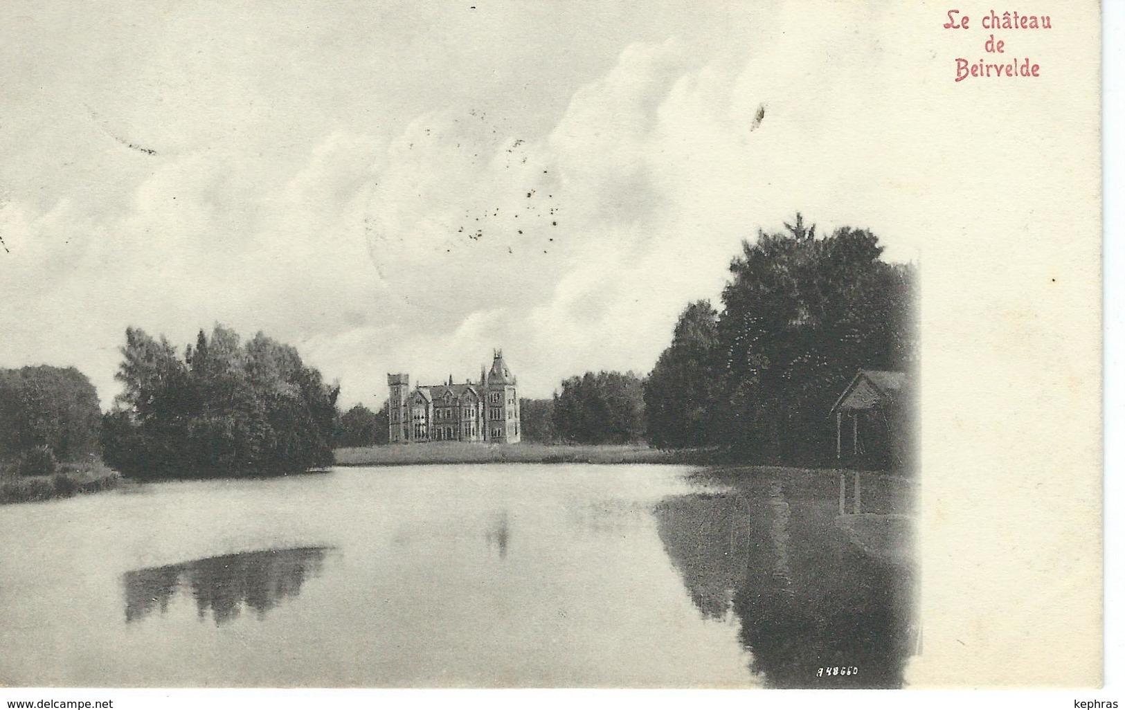 Le Château De BEIRVELDE - Cachet De La Poste 1910 - Lochristi