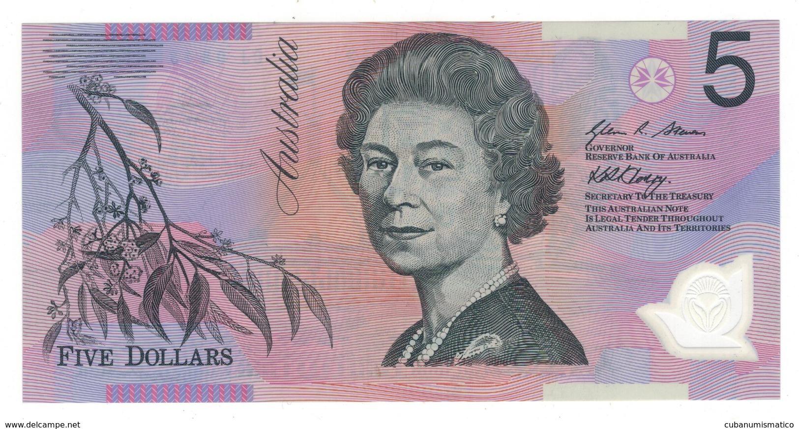 Australia 5 Dollars, 2008, UNC Polymer. - Emissioni Governative Decimali 1966-...