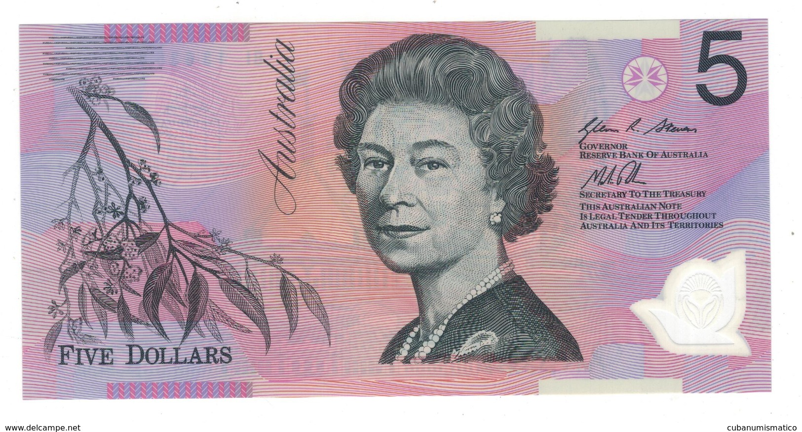 Australia 5 Dollars, 2013, UNC Polymer. - 2005-... (Polymer)