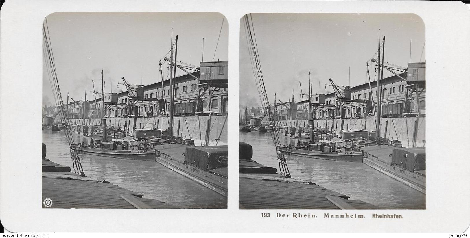 Duitsland/Deutschland, Stereoscoopfoto, Der Rhein, Mannheim, Rheinhafen, Ca. 1920 - Fotos Estereoscópicas
