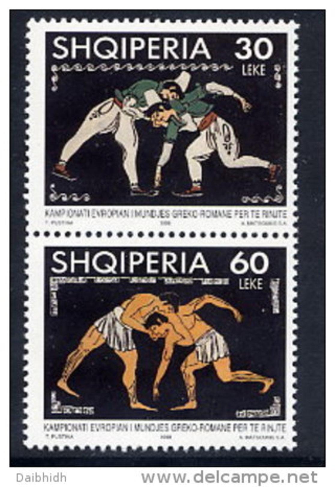 ALBANIA 1998 Wrestling Set Of 2  MNH / **.  Michel 2656-57 - Albanie