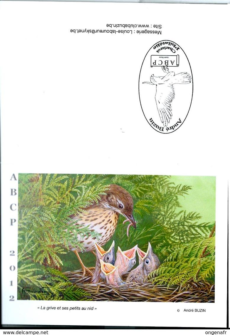 Carte De Voeux 2012  (La Grive Et Ses Petits Au Nid) - 1985-.. Pájaros (Buzin)