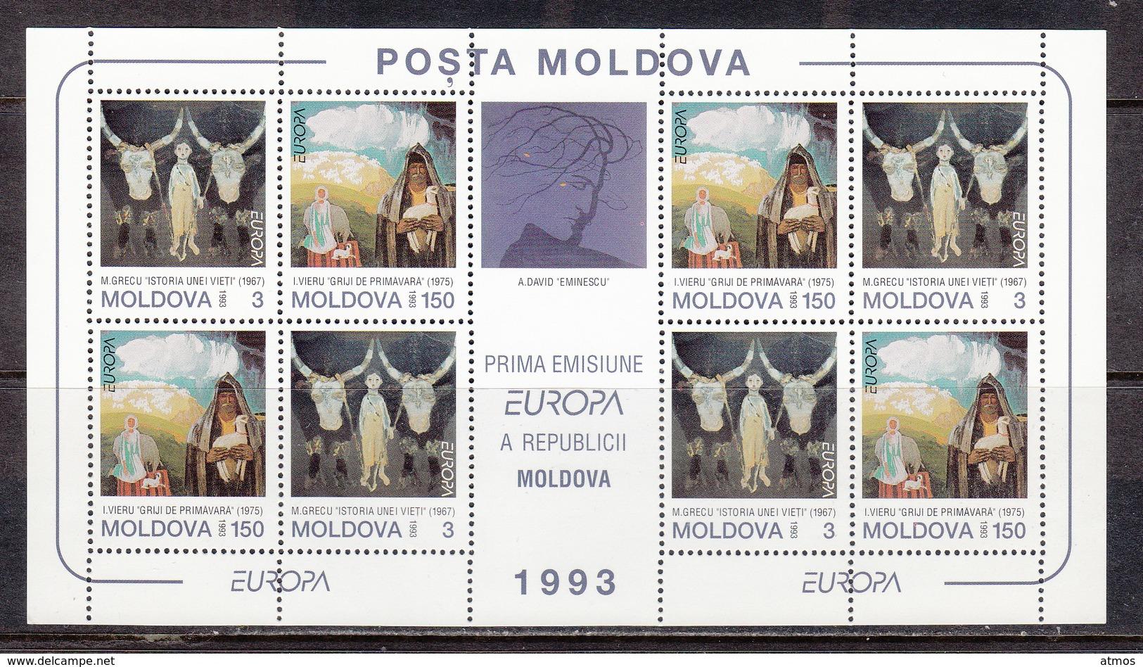 Moldavia MNH Michel Nr 94/95 Sheet From 1993 CEPT / Catw 16.00 EUR - Moldawien (Moldau)