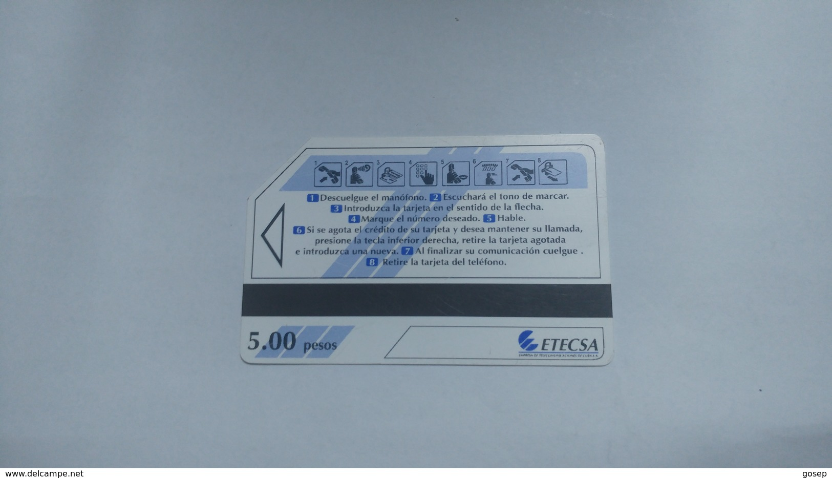 Cuba-nuevos Telephone Blue-urmet-(5.00pesos)-used Card+1card Prepiad Free - Cuba