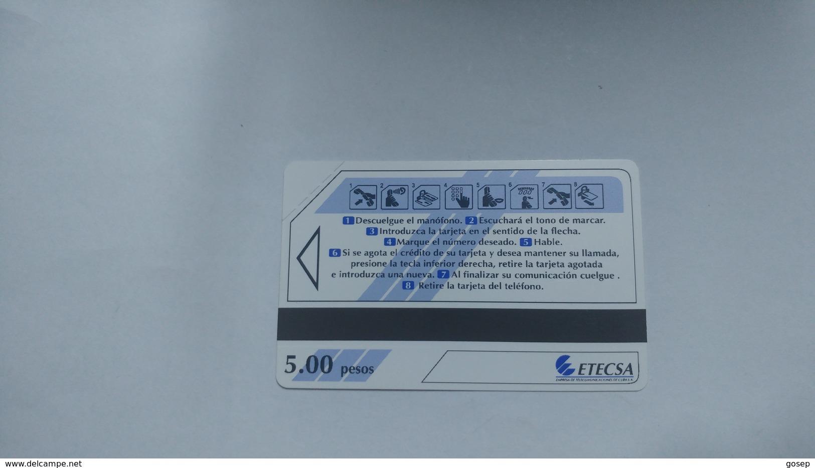 Cuba-nuevos Telephone Blue-urmet-(5.00pesos)-mint Card+1card Prepiad Free - Cuba