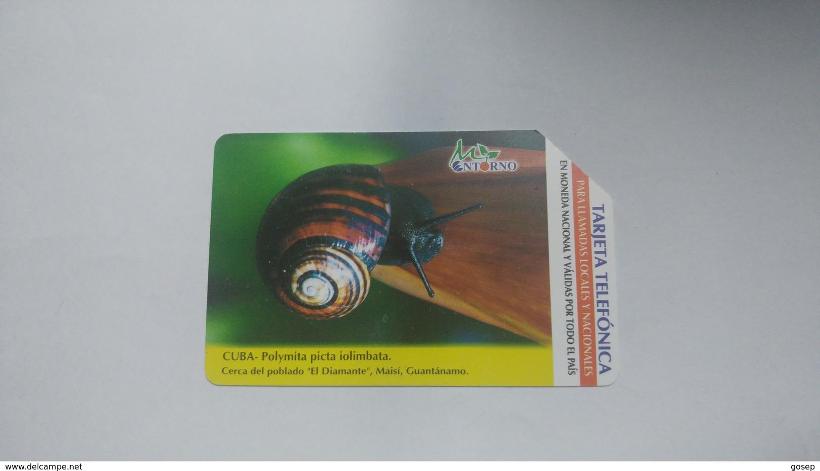 Cuba-polymita Picta Iolimbata-urmet-(5.00pesos)-used Card+1card Prepiad Free - Cuba