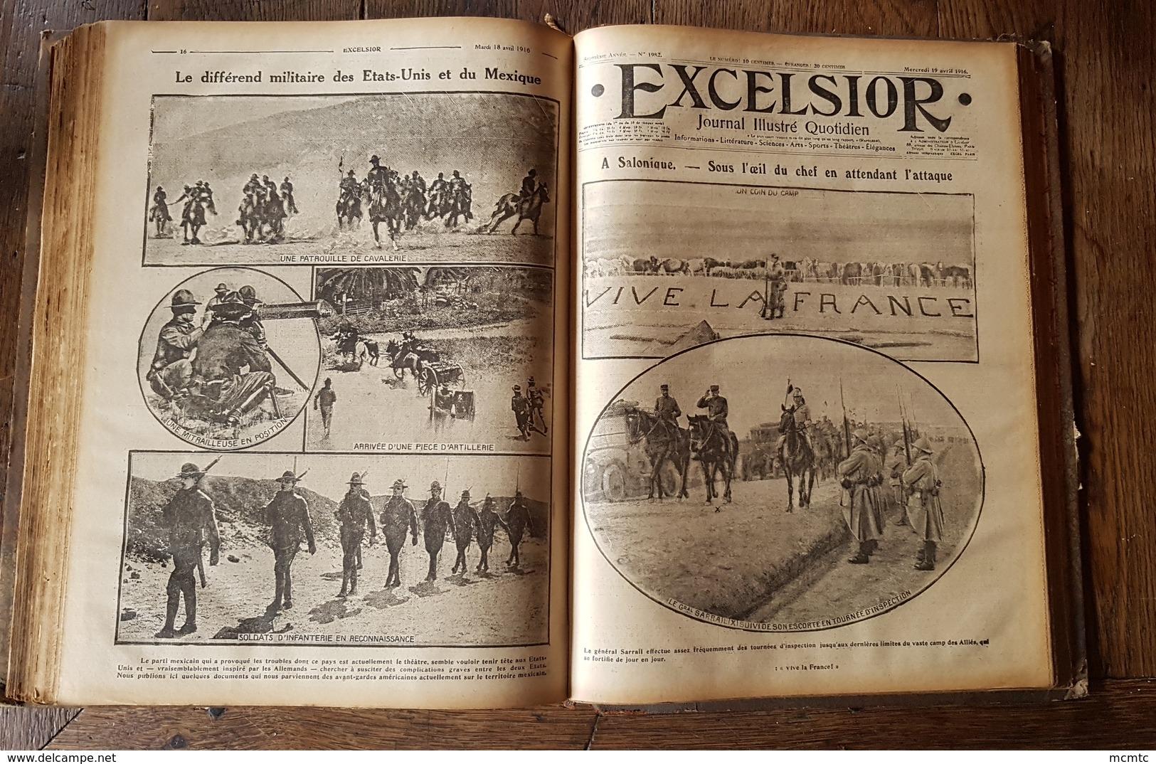 6 Livres De 360 Numéros - Guerre Scientifique Excelsior 1916 - Autres