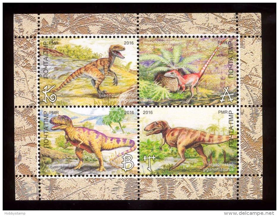 Transnistria 2016  Prehistoric Animals  S/s With CORRECT Name On Animal MNH - Moldawien (Moldau)