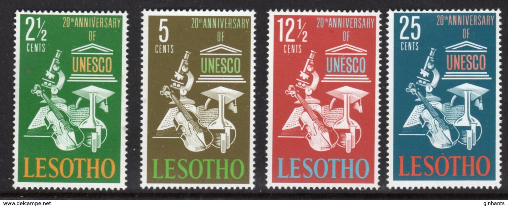 LESOTHO  - 1966 UNESCO ANNIVERSARY SET (4V) FINE MOUNTED MINT MM * SG 121-124 - Lesotho (1966-...)
