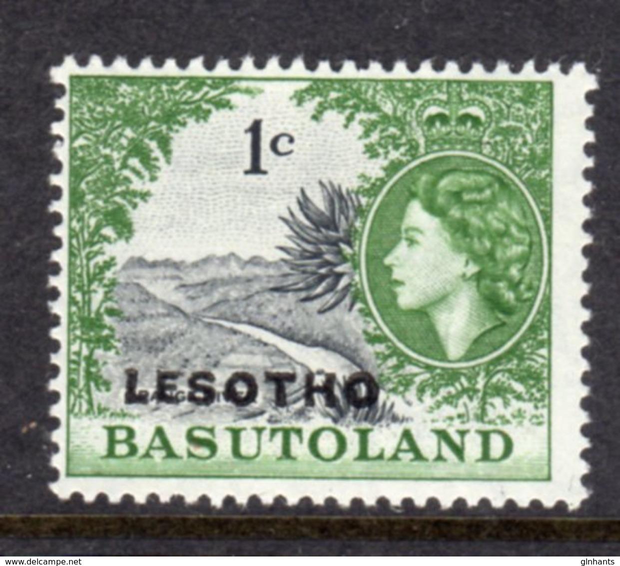 LESOTHO  - 1966 1c DEFINITIVE STAMP WMK BLOCK CA FINE MOUNTED MINT MM * SG 111B - Lesotho (1966-...)