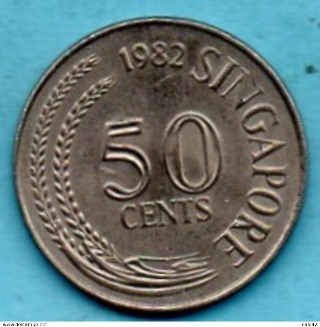 R13/ SINGAPORE  50 Cents 1982 - Singapour