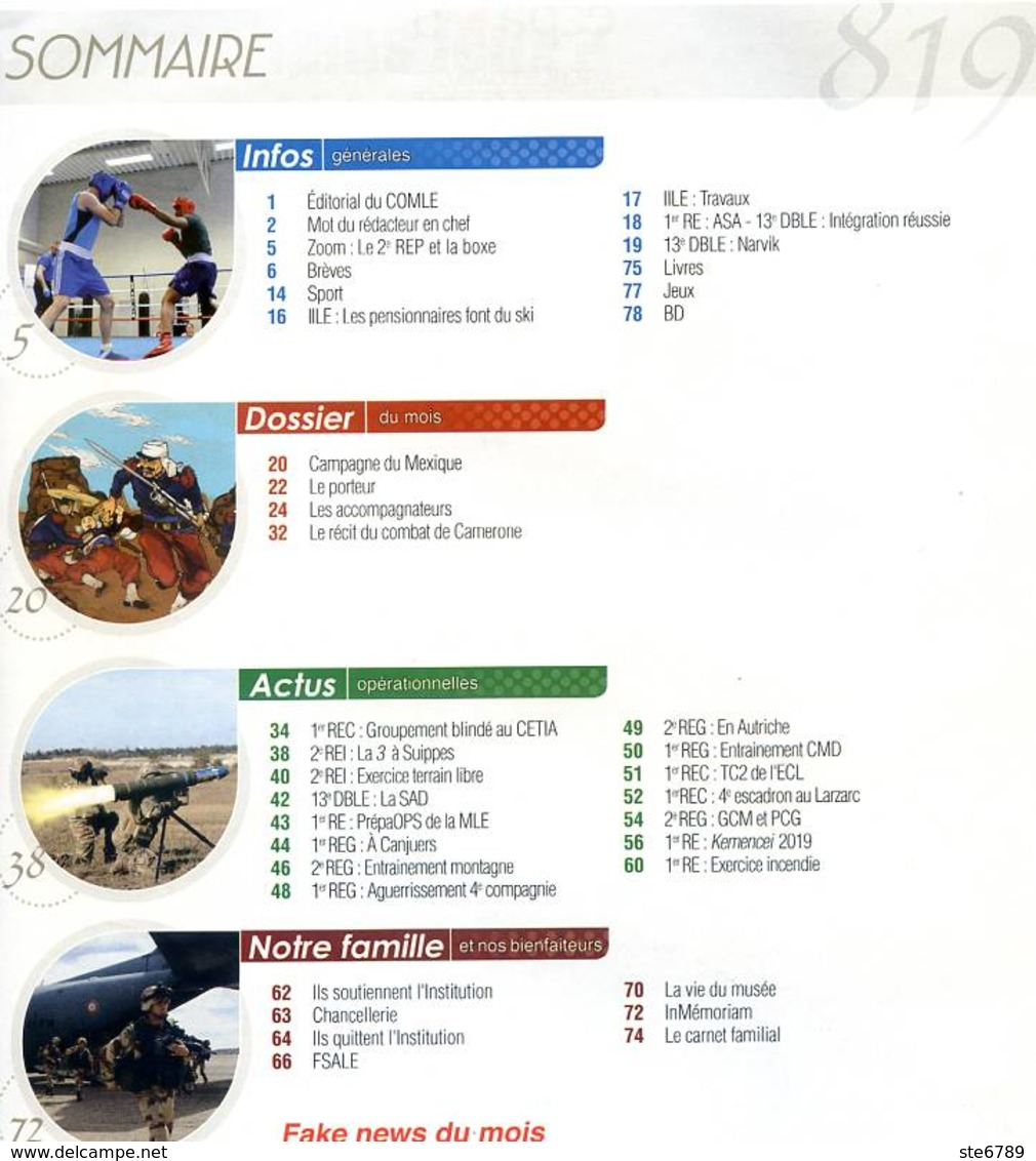 Képi Blanc N° 819 Militaria Légion Etrangere - Französisch