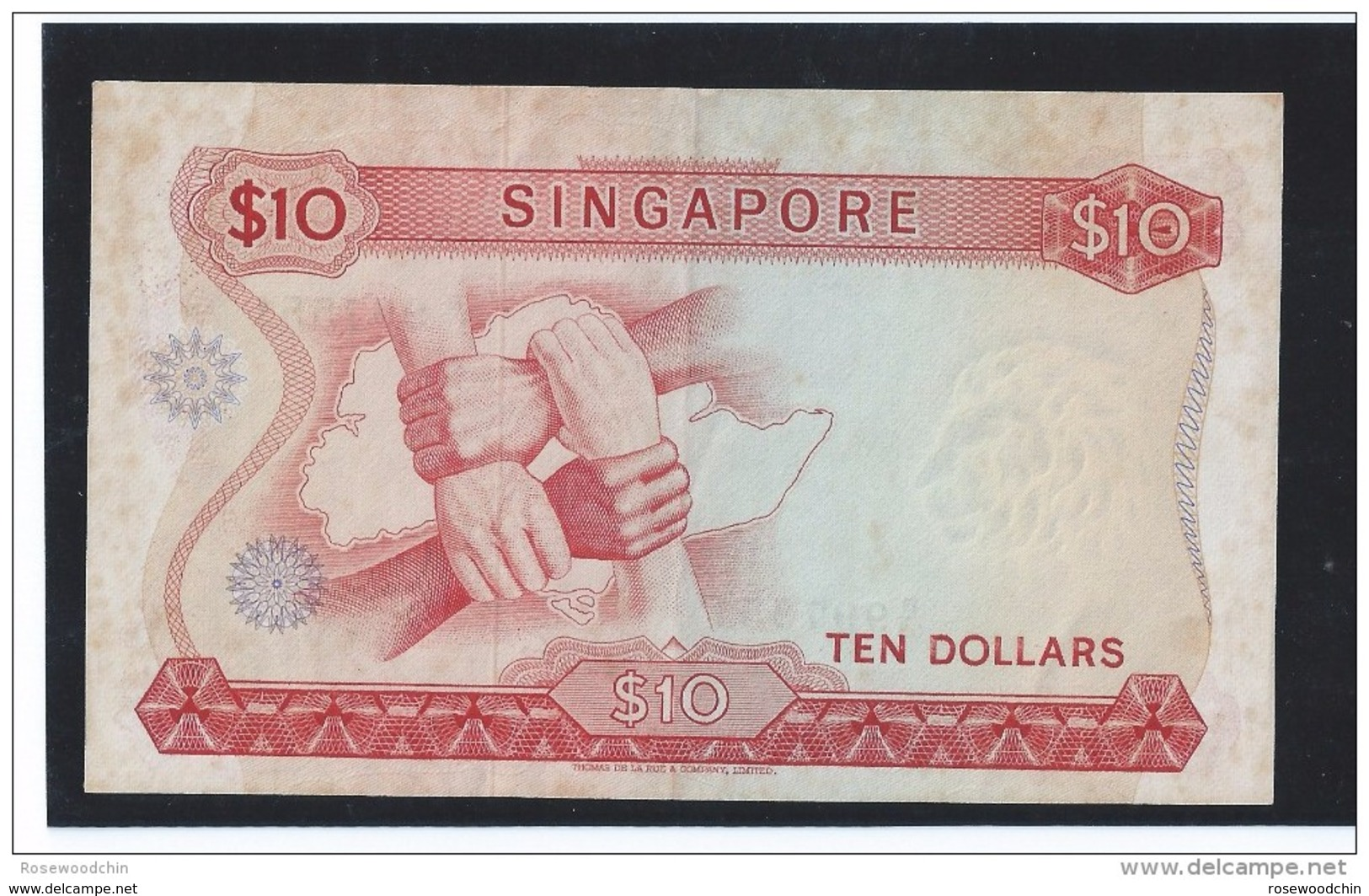 RARE ! Singapore Orchids Series $10  Dr. Goh Keng Sui Sign W/ Seal CURRENCY MONEY BANKNOTE (#65) - Singapore