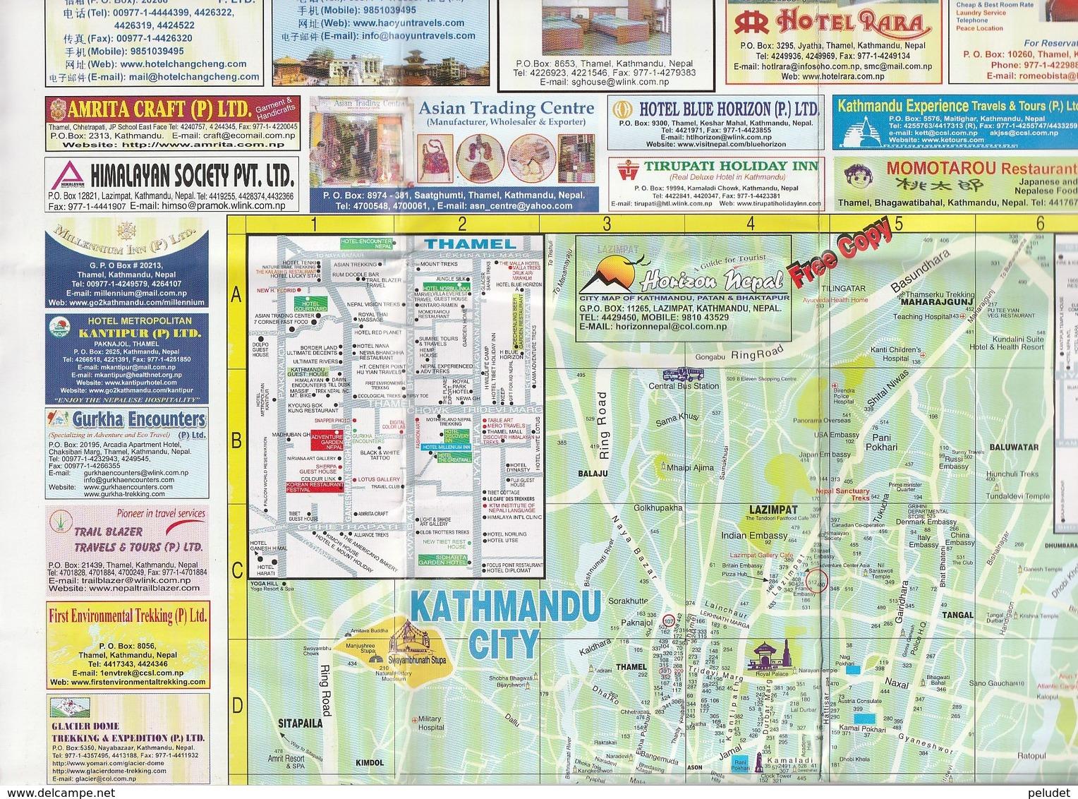 MAP - KATHMANDU CITY /  KATHMANDU VALLEY - Callejero