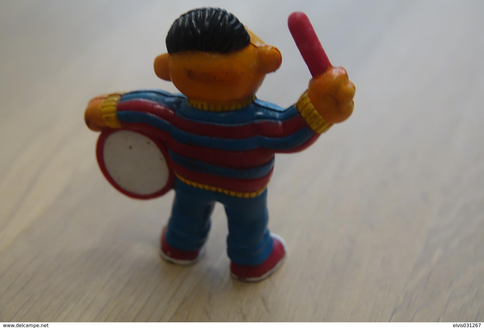 Vintage FIGURE : SESAMI STREET TARA TOYS ERNIE With Drum - 1982 - RaRe  - Figuur - Figurines
