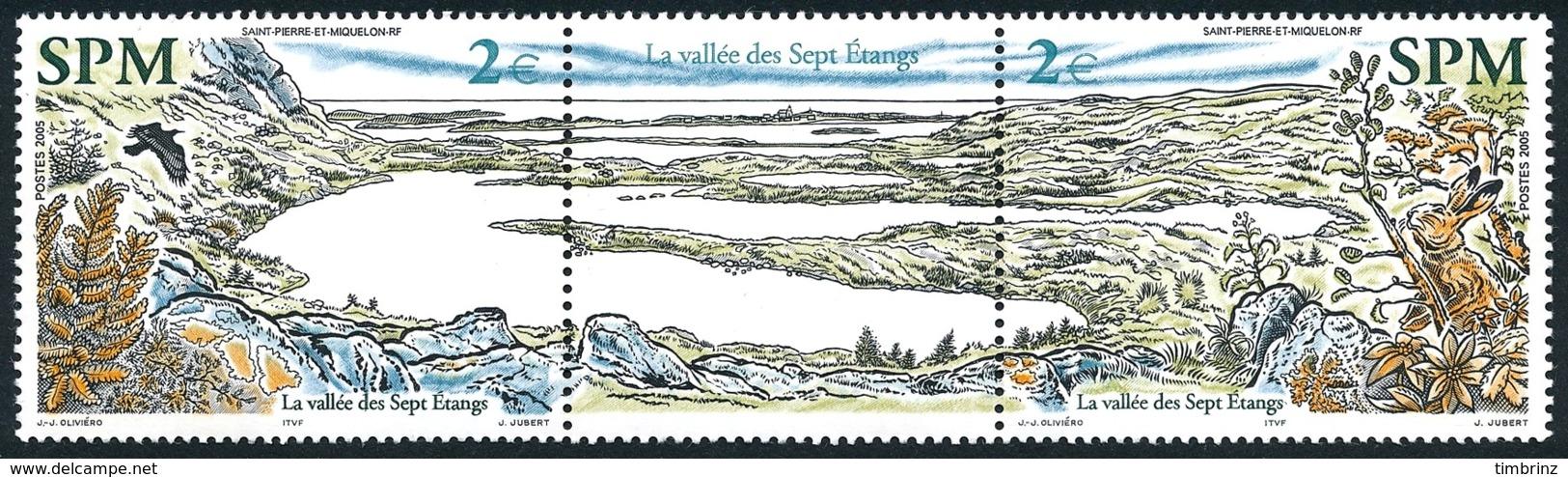 ST-PIERRE ET MIQUELON 2005 - Yv. 853 Et 854 Tryptique **   Faciale= 4,00 EUR - Vallée Des Sept Etangs  ..Réf.SPM11556 - Neufs