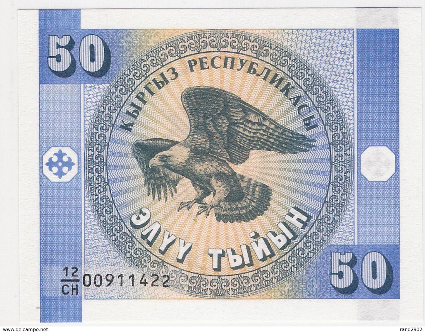 Kyrgyzstan 50 Tyiyn 1993 (1) P-3 UNC /007B/ - Kirgisistan