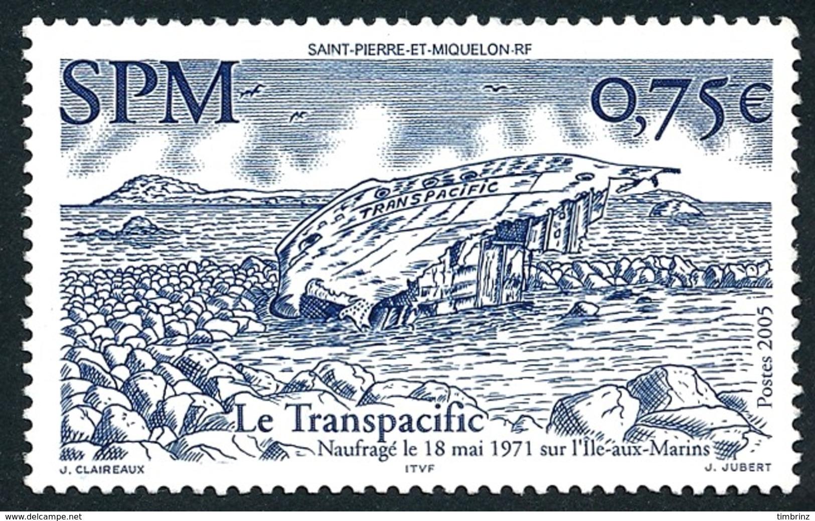 ST-PIERRE ET MIQUELON 2005 - Yv. 857 **   Faciale= 0,75 EUR - Bateau Le Transpacific (Epave)  ..Réf.SPM11559 - Neufs