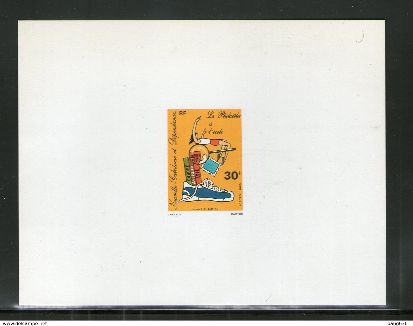 NOUVELLE CALEDONIE 1980 EPREUVE DE LUXE YVERT  N°438  NEUF MNH** - Ongetande, Proeven & Plaatfouten