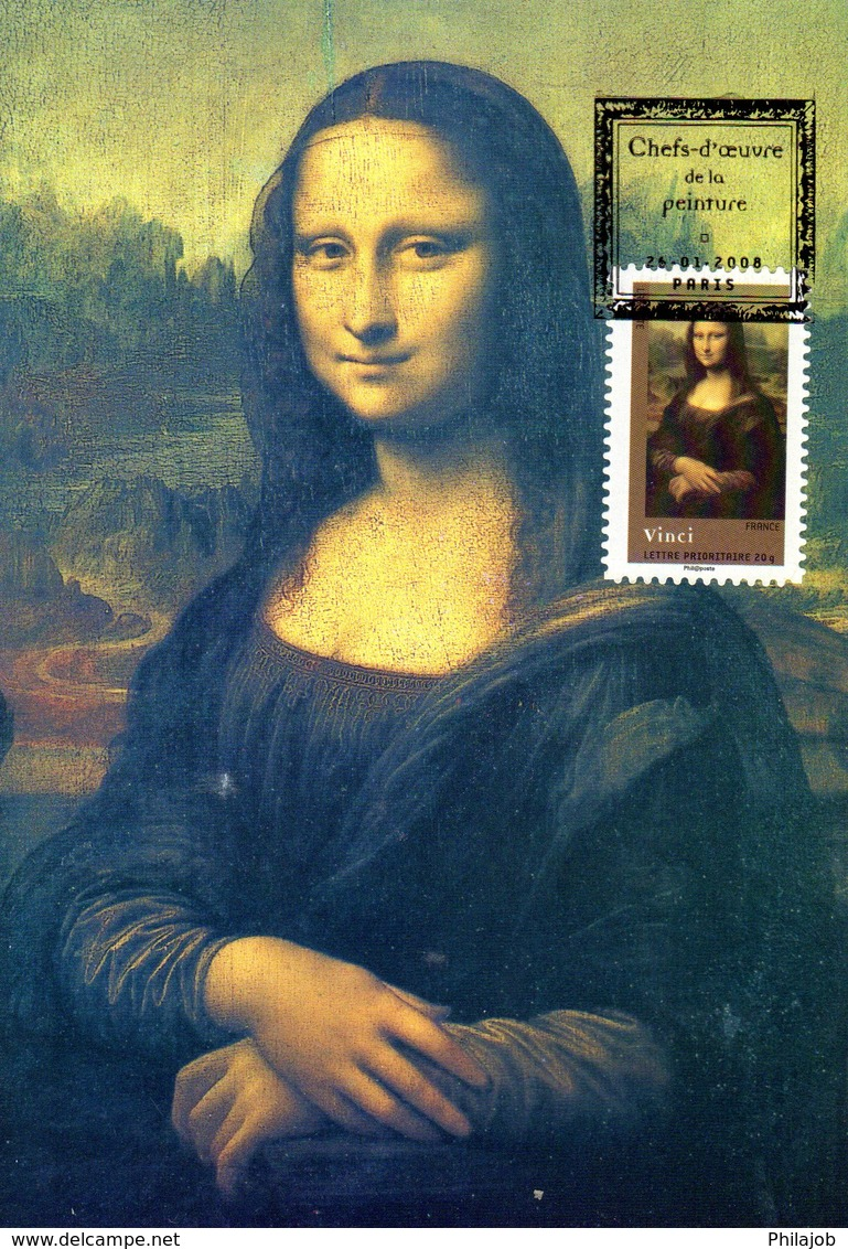 """ LA JOCONDE / MONA LISA "" Sur Carte Maximum De 2008 N° YT Adh 153 CM - Cartes-Maximum"
