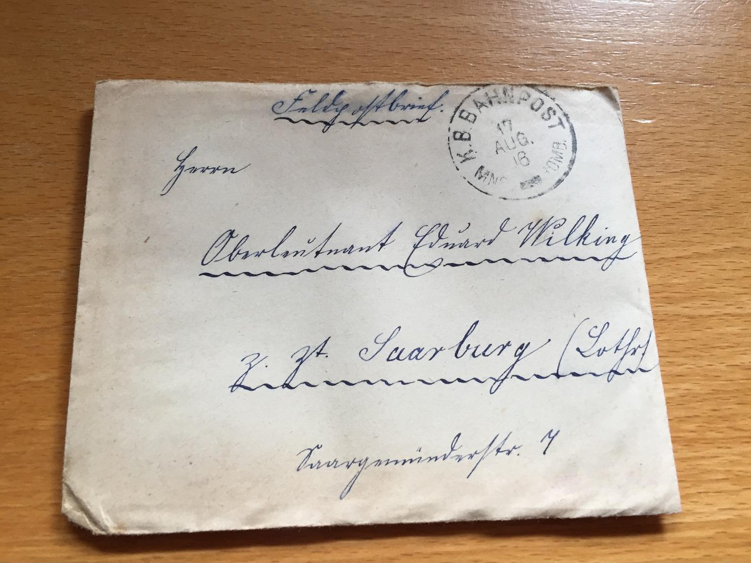 BAHNPOST BAYERN   MNS - HOMB.  1918 Feldpost - Allemagne