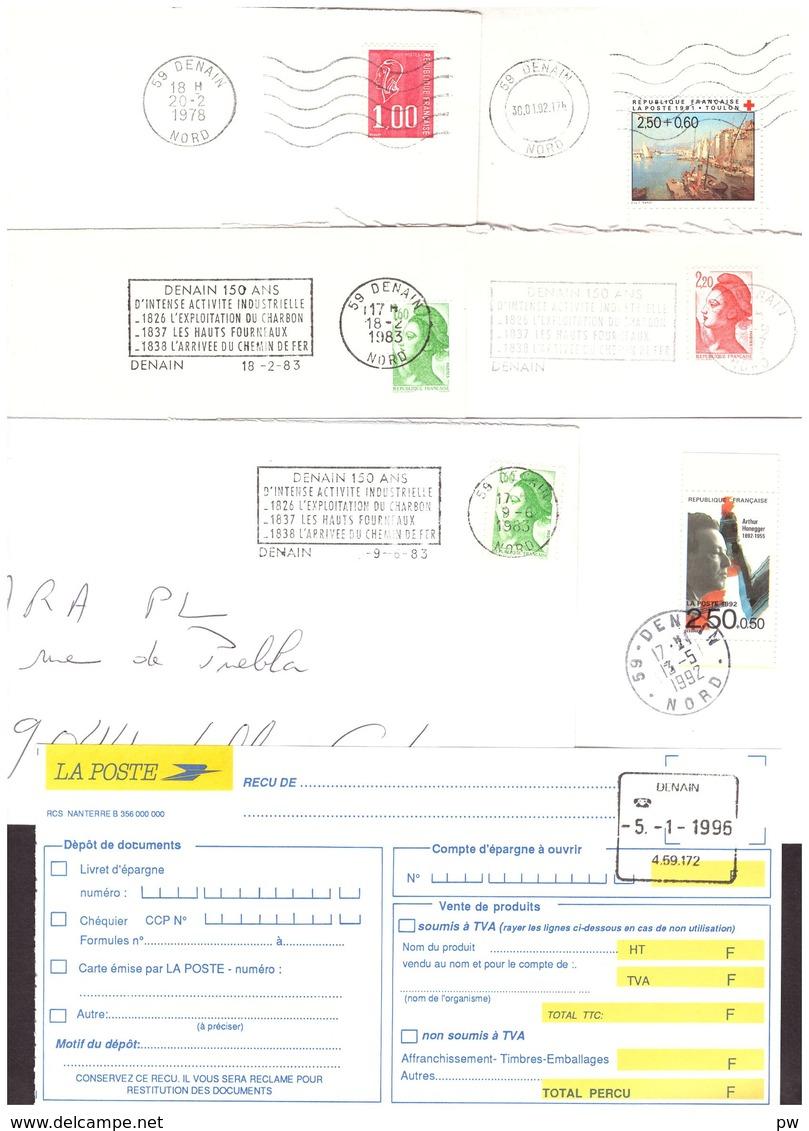 FRANCE '59 DENAIN' 1978/95  15 MARQUES POSTALES Et  OBLITERATIONS - 1961-....