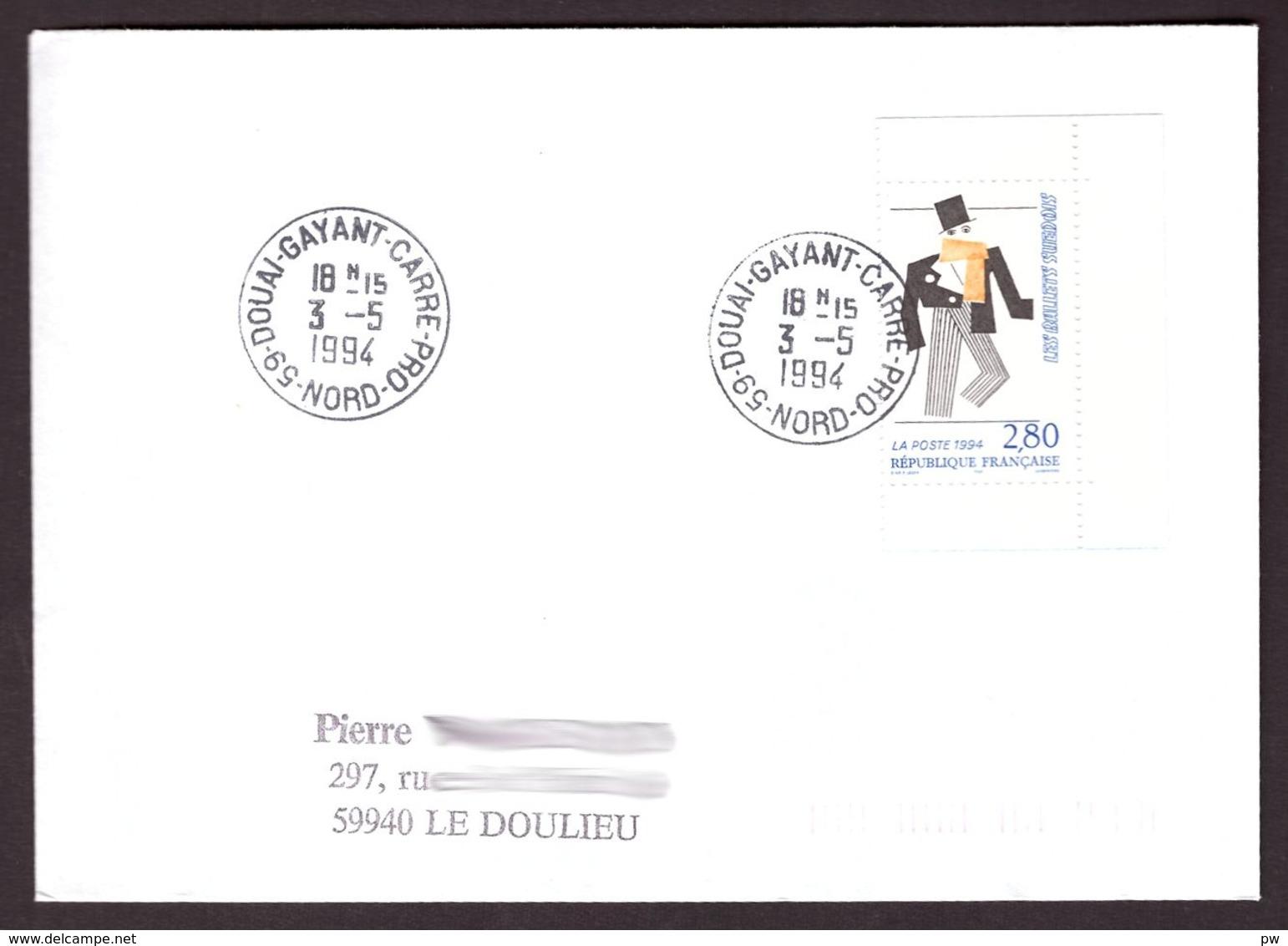 FRANCE '59 DOUAI GAYANT CARRE PRO' 1994  1 OBLITERATION - 1961-....
