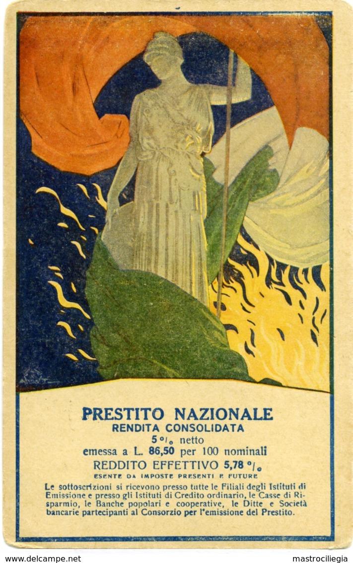 PRESTITO NAZIONALE Rendita Consolidata  Italia Turrita  Tricolore Italiano  Fiamma Redente - Patrióticos