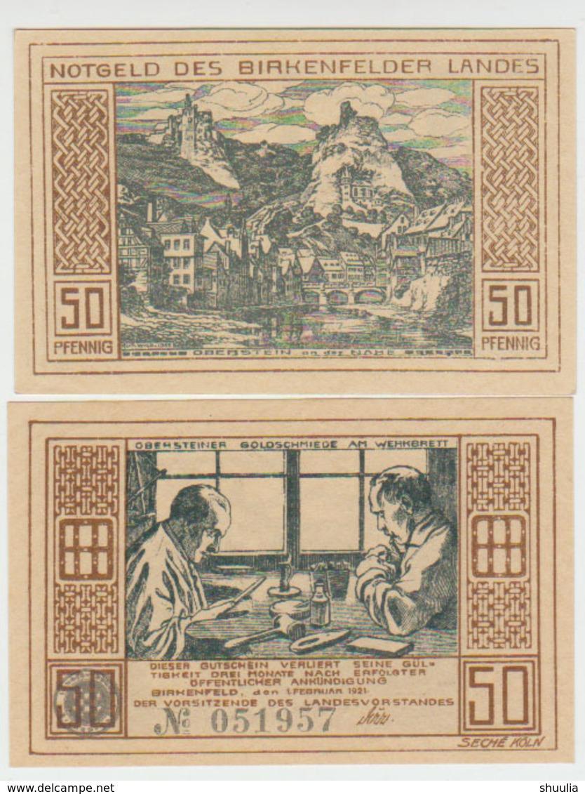 Notgeld Birkenfeld 50 Pf. 1921 106.1 - [11] Lokale Uitgaven