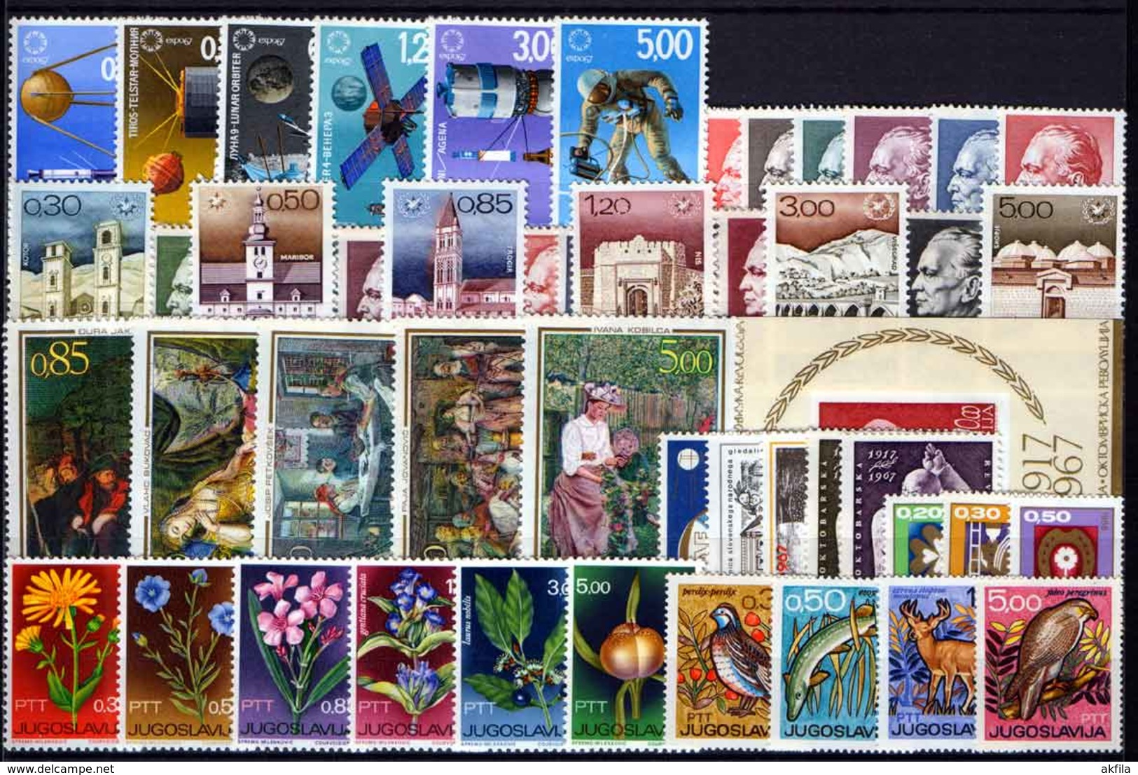 Yugoslavia 62 Complete Years From 1945 Till 2006, MNH (**) - Collections, Lots & Séries