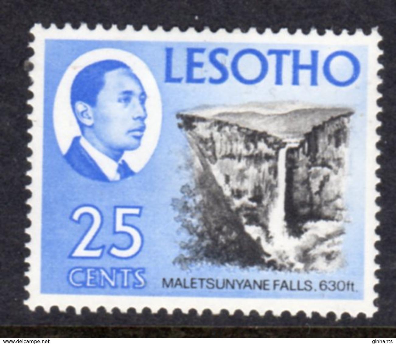 LESOTHO  - 1969 DEFINITIVE 25c STAMP FINE MOUNTED MINT MM * SG 156 - Lesotho (1966-...)