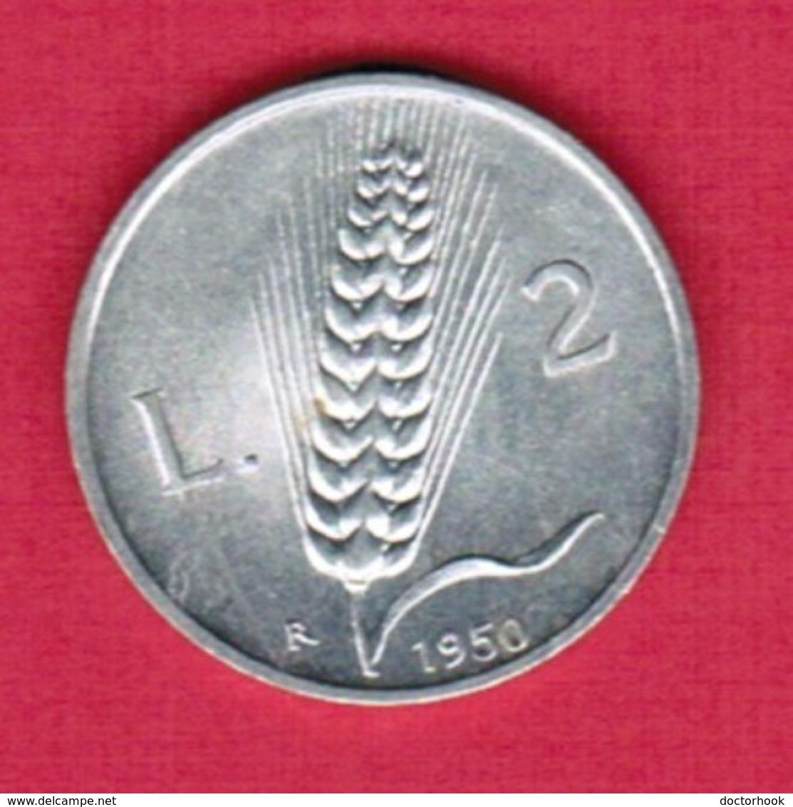 ITALY   2 LIRE 1950 (KM # 88) #5360 - 2 Lire