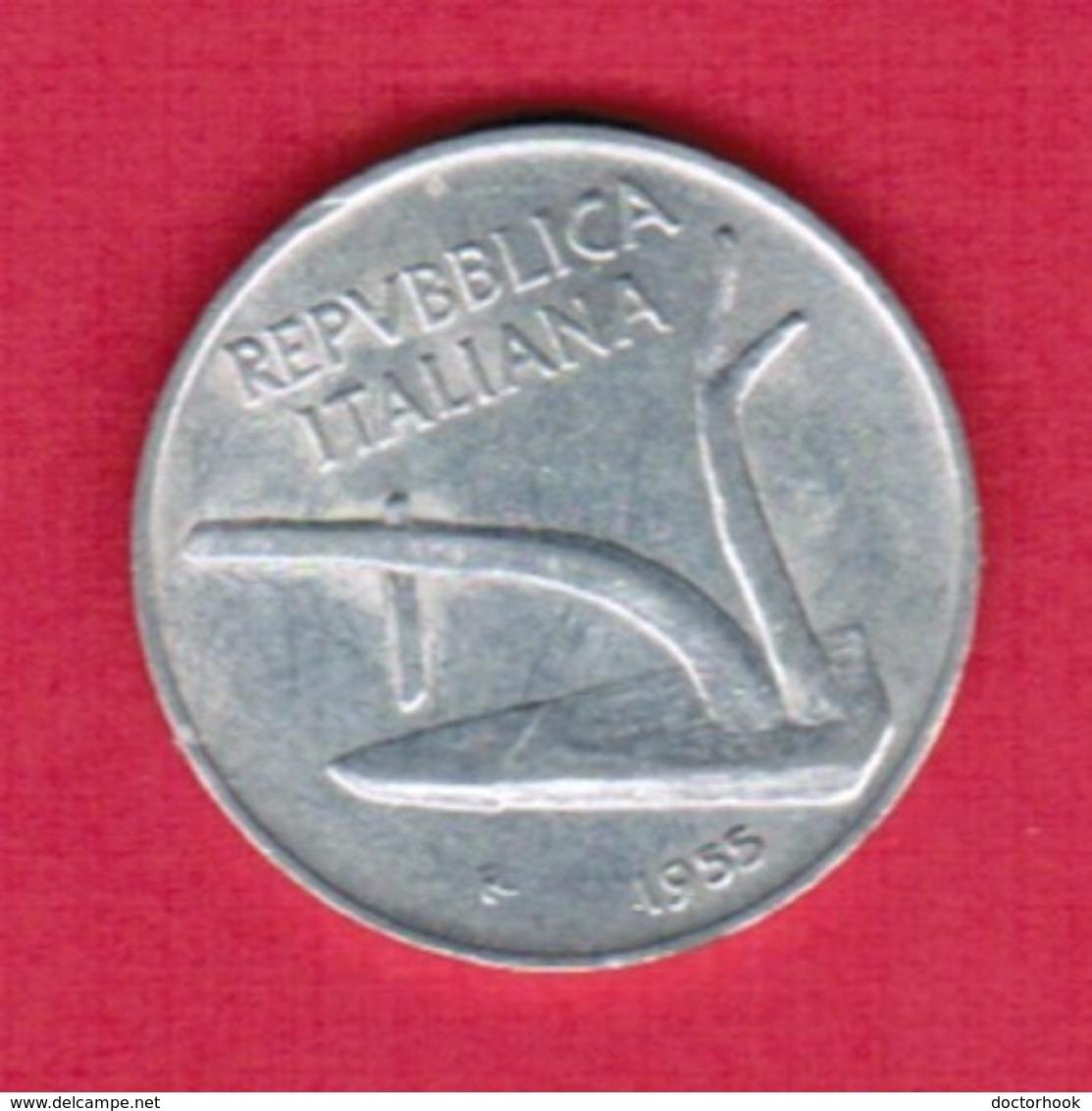 ITALY   10 LIRE 1955 (KM # 93) #5361 - 1946-… : Republic