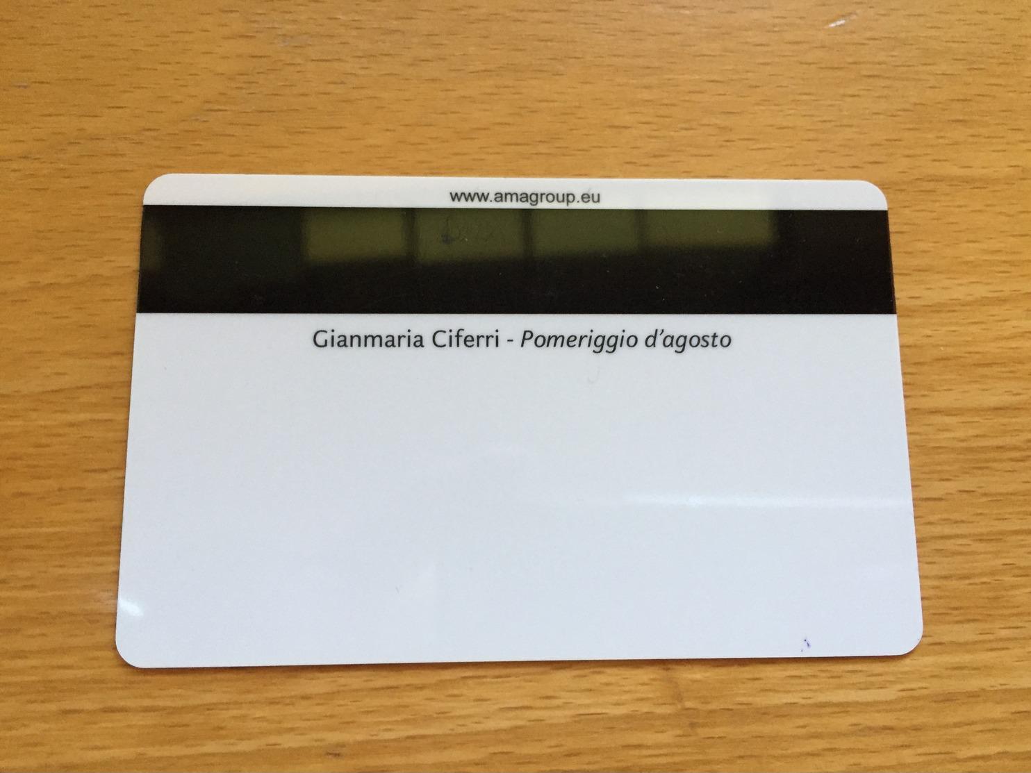 Hotelkarte Room Key Keycard Clef De Hotel Tarjeta Hotel CABIN CARD  COSTA NEOROMANTICA AMBRA - Telefonkarten