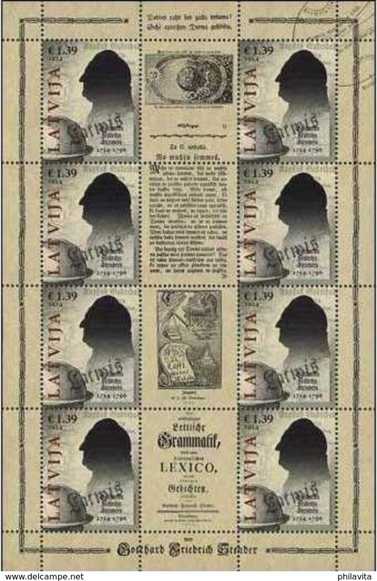 2014 Latvia - 300 Years Of G.F. Slenders - Scientist And Schoolar Of Latvia - Sheetlet  MNH** Mi 919 - Lettland