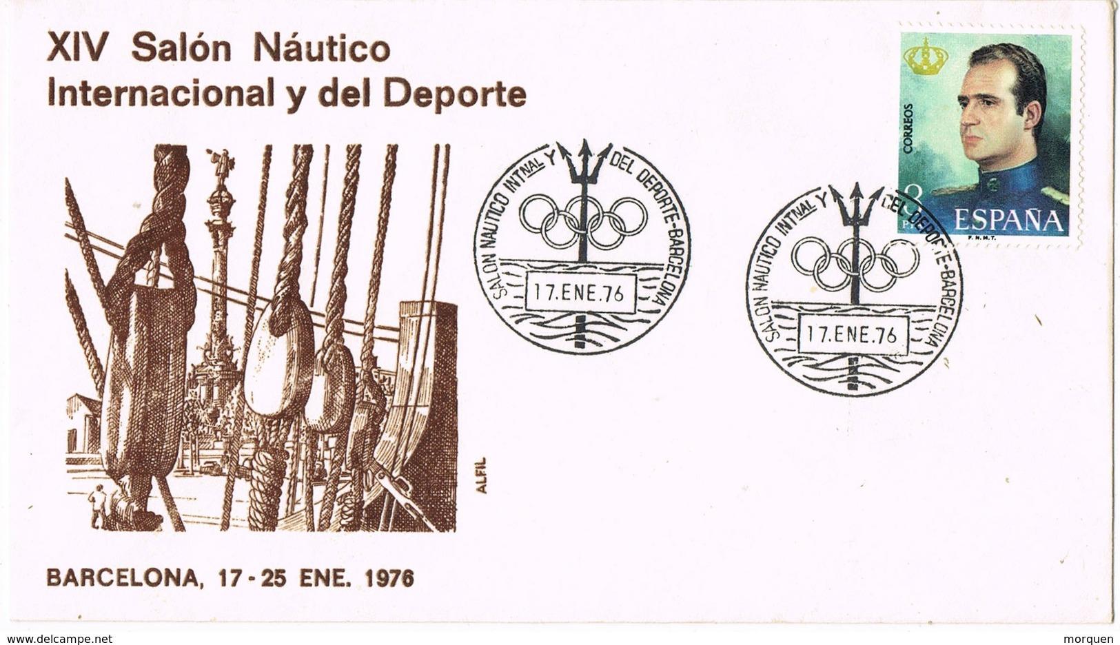 33662. Carta  BARCELONA 1976,  XIV Salon Nautico Y Deporte - 1931-Hoy: 2ª República - ... Juan Carlos I