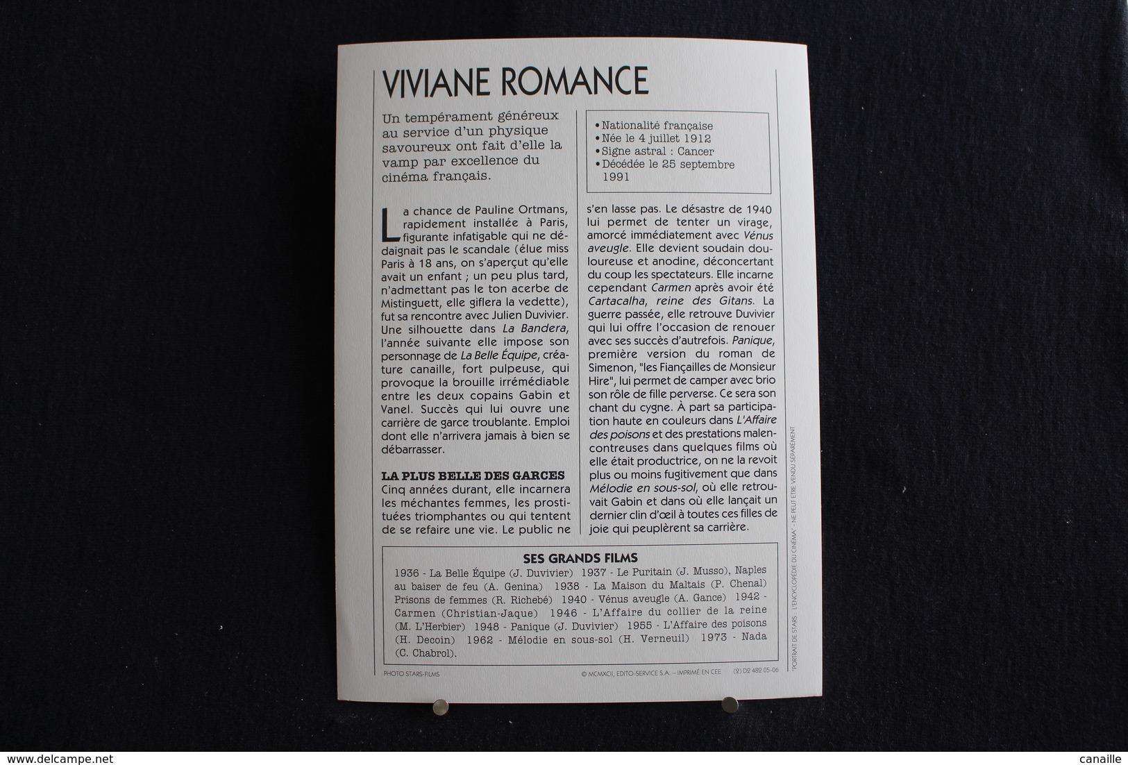 Sp-Actrice,française,1940 - Viviane Romance, Née Le 4 Juillet 1912 à Roubaix Et Morte Le 25 Septembre 1991 à Nice,france - Acteurs