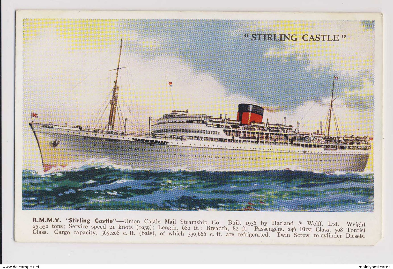AJ02 Shipping - R.M.M.V. Stirling Castle - Steamers