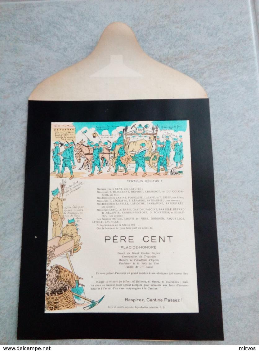 Faire Part Père Cent PLACIDE HONORE (6) - Unclassified