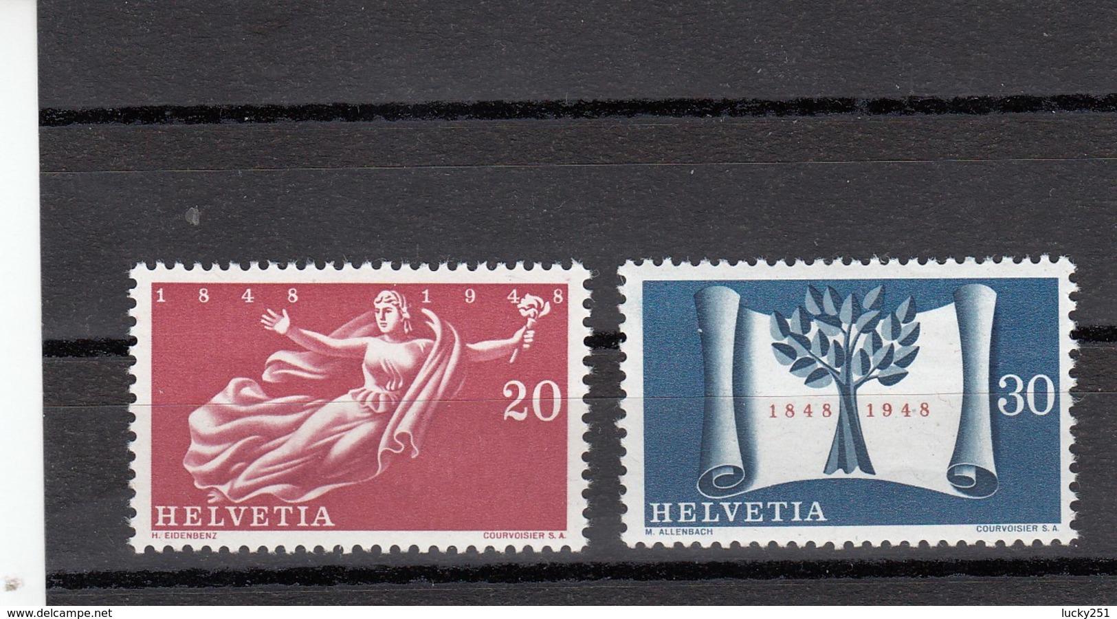 Suisse - 1948 - Neuf** - N° YT 455/456 - Centenaire De L'Etat Confédéral Actuel - Nuovi