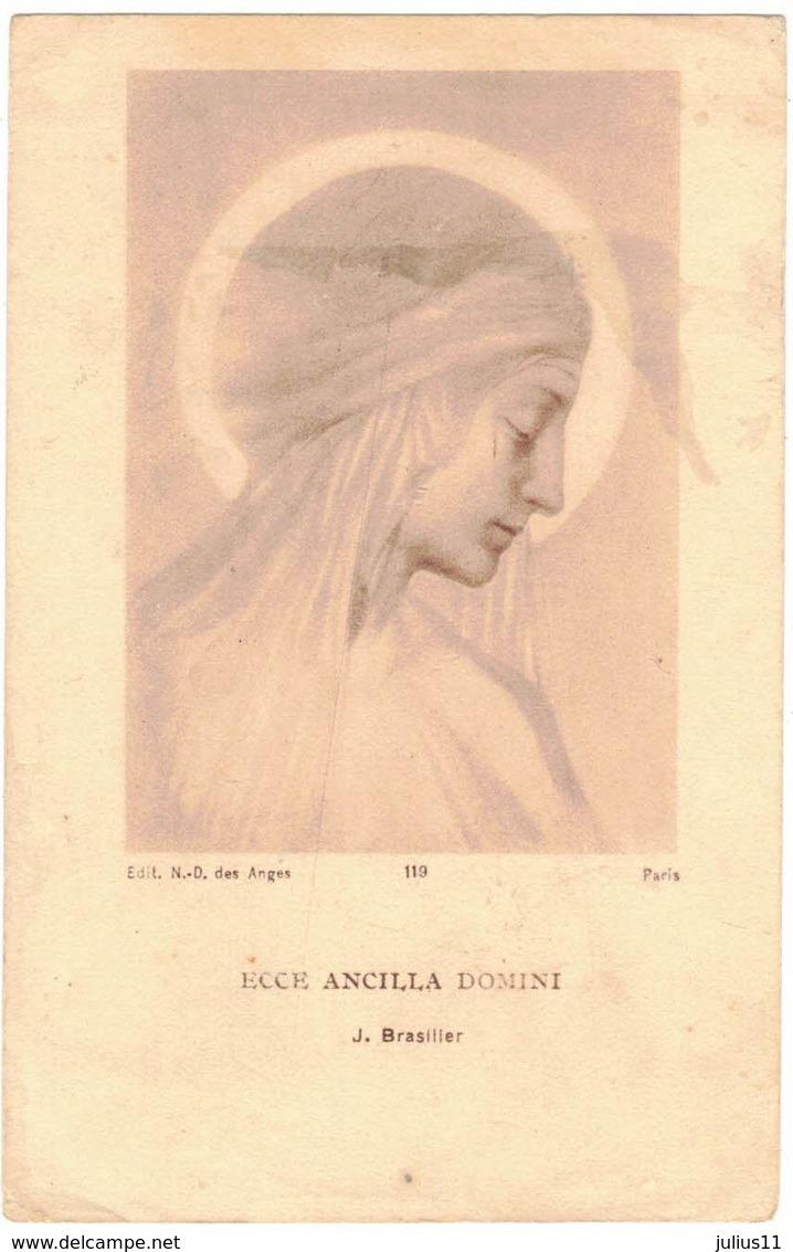 ECCE ANCILLA DOMINI ND DES ANGES BRASILIER J. IMAGE PIEUSE RELIGIEUSE RELIGIEUX HOLY CARD SANTINO PRENTJE - Santini