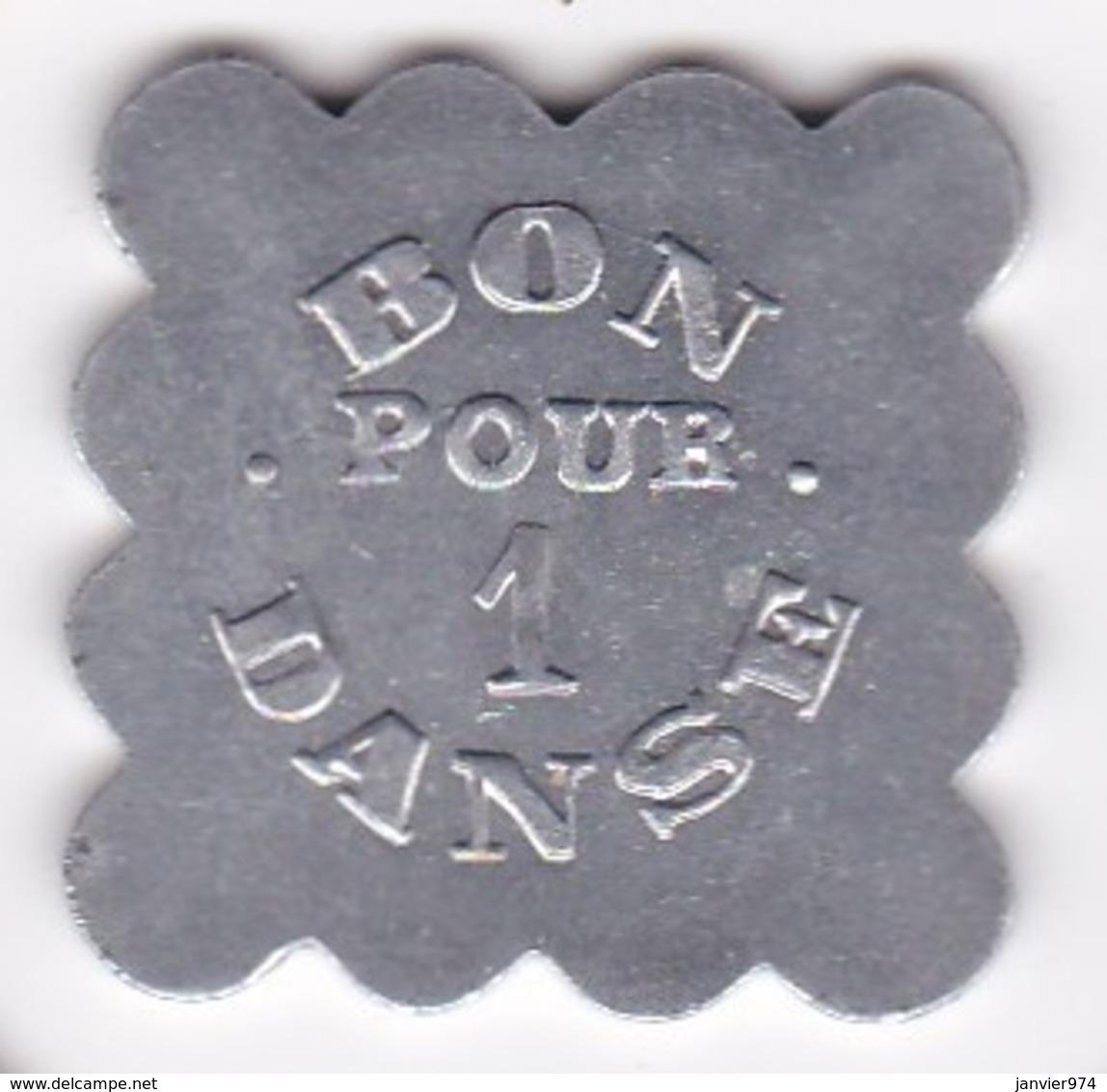 Jeton BAL – BON POUR UNE DANCE En Aluminium Carré Lobé - Monétaires / De Nécessité