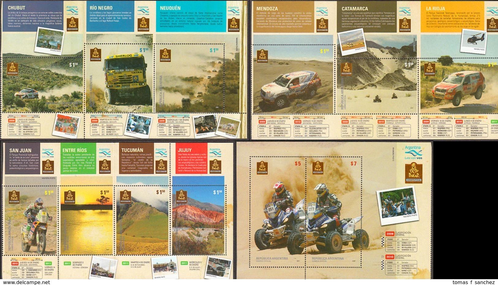 Argentina - 2010 - Carnet - 33º édition Du Rallye De Dakar - Yvert 2883 / 2897 - Ungebraucht