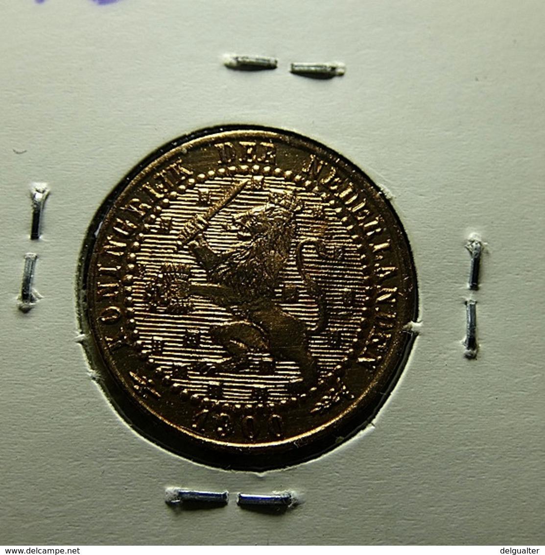 Netherlands 1 Cent 1900 Varnished - [ 3] 1815-… : Royaume Des Pays-Bas
