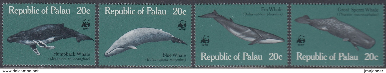 Palau 1983 - World Wildlife Fund: Whales - Mi 20-23 ** MNH - Palau