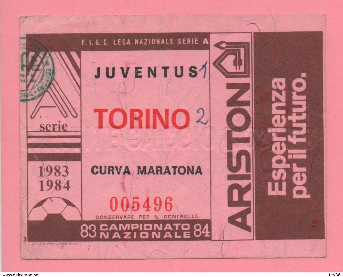 Biglietto D'ingresso Stadio Juventus Torino 1983/84 - Eintrittskarten