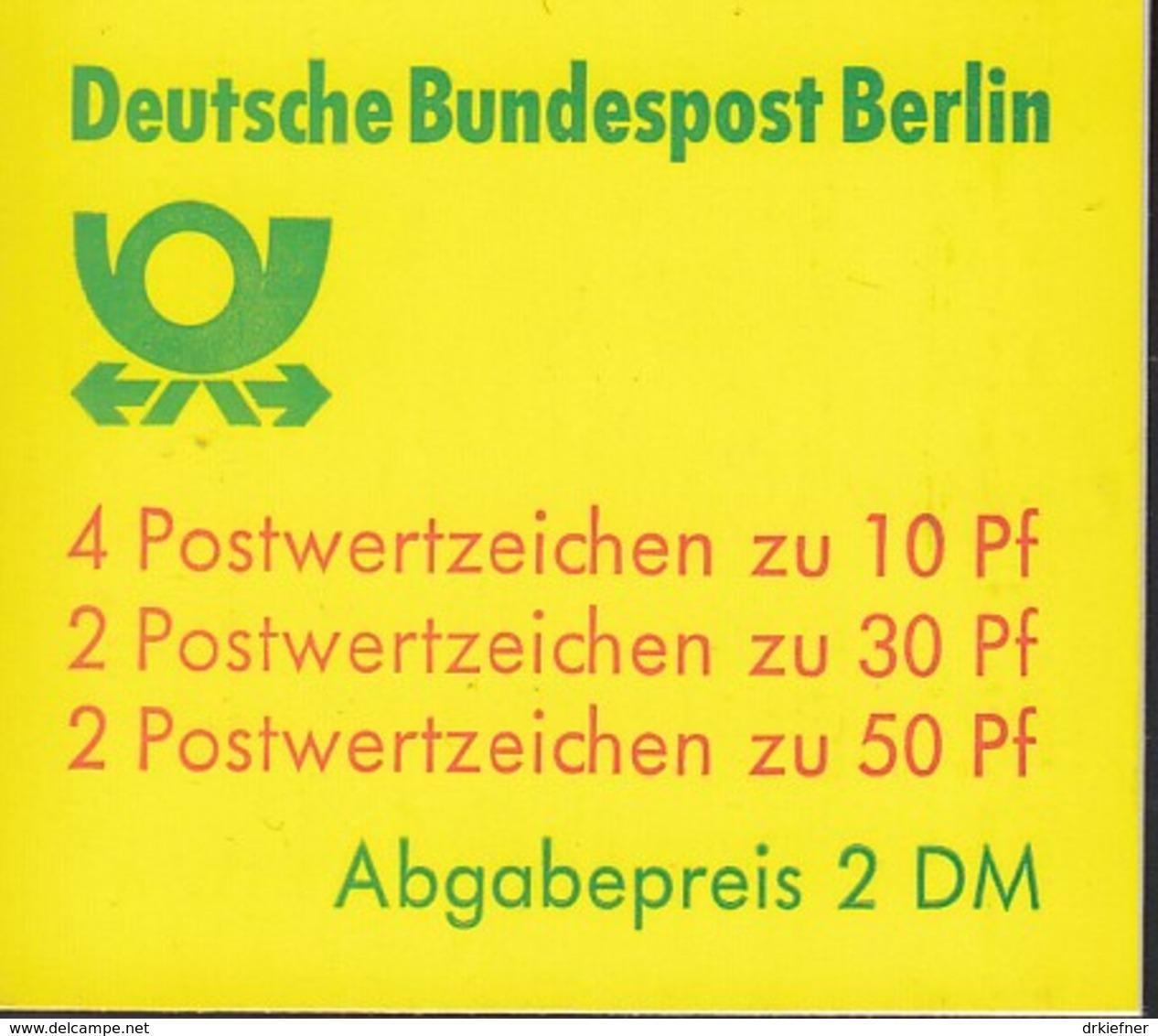 BERLIN Markenheftchen MH 11 H OZ, Postfrisch **, Burgen Und Schlösser 1981 - Blocchi