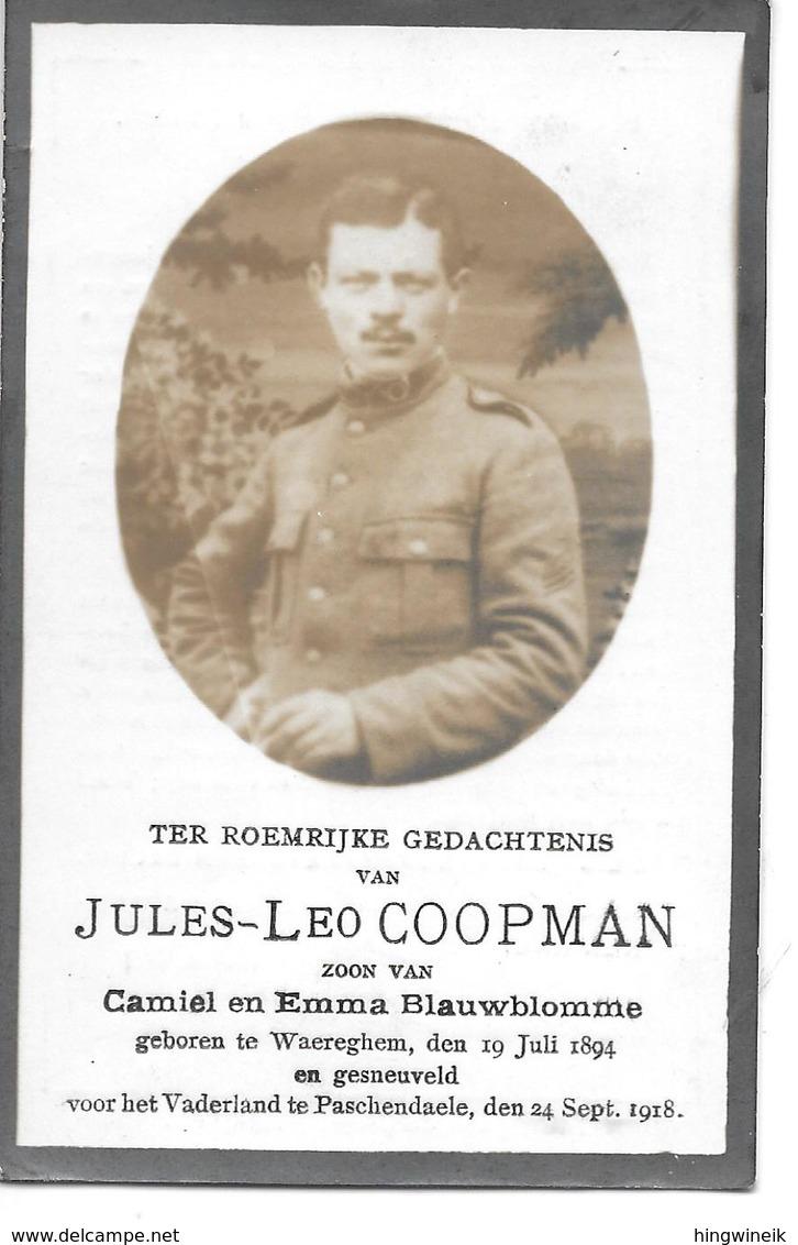 Coopman J.l.(  Gesneuveld -waregem  1894 - Passendale  1918) - Religión & Esoterismo